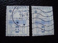 DANEMARK - timbre yvert et tellier n° 664 x2 obl (A33) stamp denmark (T)