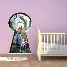 Alice in Wonderland Multi Colour Wall Art Sticker Girls Faiytale Bedroom Graphic