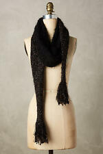 NWT, ANTHROPOLOGIE Tinselknit Scarf Black with Metallic Copper Sparkle $48