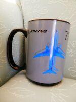 Boeing 737 MAX Airplane Aircraft Coffee Mug, Black Interior, EUC
