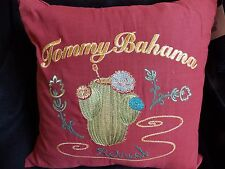 "NEW TOMMY BAHAMA VERA CRUZ 18"" X 18"" EMBROIDERED CACTUS THROW  PILLOW"