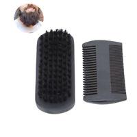 Men Wood Boar Bristle Brush Beard Comb Set Beard Care Mustache Styling Kit