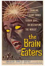 THE BRAIN EATERS Movie POSTER 27x40 Edwin Nelson Alan Frost Jack Hill Joanna Lee