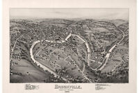 Brookville, Jefferson County, Pennsylvania. Antique Birdseye Map; 1895