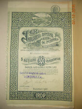 Romania oil extracting industry bond stock certificate