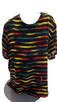 JONES NEW YORK WOMENS MULTI-COLOR CHIFFON  RAYON TOP BLOUSE SHIRT SIZE 24W
