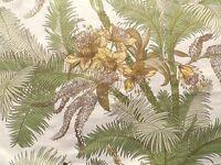 Vintage 1980's Sanderson Cotton Interiors Fabric 'Palmetto' Botanical Design