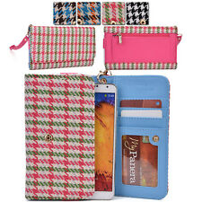 Houndstooth Protective Wallet Case Clutch Cover for Smart-Phones ECLGMT-13