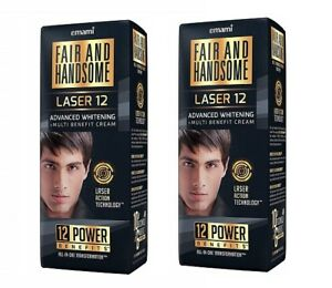 Fair and Handsome Laser 12 Advanced Whitening and Multi Benefit Cream, 60 gm x 2