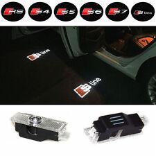 2x AUDI SLine S-Line Laser LED Door Puddle Courtesy Projector Lights. (Alu)