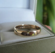 Vintage 9ct Yellow Gold Wedding Band Ring h/m 1972 Birmingham H. Samuel - size Q