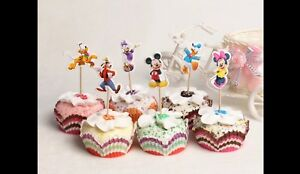12 Disney Cupcake Toppers Picks Minnie Mouse Mickey Mouse Donald Pluto Goofy