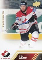13-14 UD TEAM CANADA EXCLUSIVES GOLD ERROR CARD NOT NUMBERED SHEA WEBER NO:154