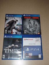 PS4 Lot Of 4 Video Games EVOLVE, WATCH DOGS, THIEF,  KILLZONE 4 SHADOW FALLS