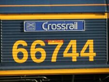 "PHOTO  CLASS 66 66744 ""CROSSRAIL"" NAMEPLATE IN JULY 2012"