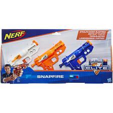 NERF N-Strike SNAPFIRE Dart BLASTER 3 Pack - NEW Pistol Gun Hasbro Elite Stealth
