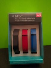 Fitbit Flex 3 Pk Multi Accessory Wristbands Bands Navy / Red /Blue Large New