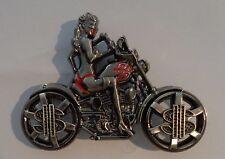 Belt buckle SEXY BIKER GIRL unisex belt buckle MOTORCYCLE