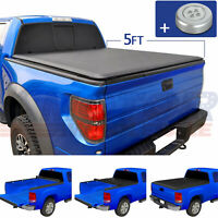 Roll-Up Soft Short Bed Vinyl Tonneau Cover Kit 5FT Fit For Ford Ranger 2014-2018