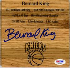 Bernard King SIGNED Floorboard New York Knicks Engraved PSA/DNA AUTOGRAPHED