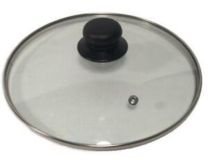 Topfdeckel Glasdeckel Edelstahlrand Sichtdeckel mit Pfeife bruchfest 14 - 32 cm