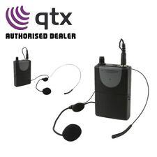 QTX UHF Neckband Mic + Beltpack for QXPA-Plus & PAV8 Portable PA Units 863.8MHz