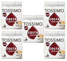 TASSIMO Costa Americano 16 T DISCs (Pack of 5, Total 80 T DISCs/pods)