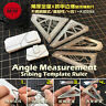 Angle Measurement Scribing Template Ruler Model Building Tools 4in1