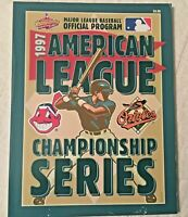 1997 American League Championship Series Program Indians Orioles Nice