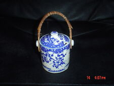 Old Oriental Small Condiment Sauce Lidded Pot Blue And White