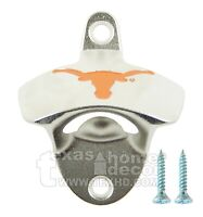 Texas Longhorns Beer Bottle Opener Wall Mount Zinc Alloy NCAA Licensed Hook 'em