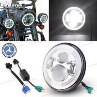 "For HarleyCVOUltraClassicElectraGlideFLHTCUSE 7"" LED Projector Headlight"