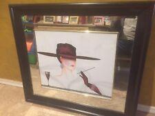 Artist Mirror wall art fashion portrait, Art Deco Women With Cigar