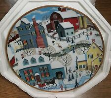 """8"""" Decorative Collector Plate """"Winter's Eve"""" - with styro packaging"""