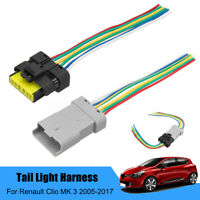 Rear Tail Light Wiring Harness Connector For Renault Clio MK 3 Plug Pigtail UK