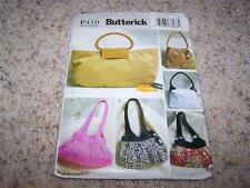 BUTTERICK SEWING PATTERN #P410 SUPER CUTE Handbags & Purses UNCUT