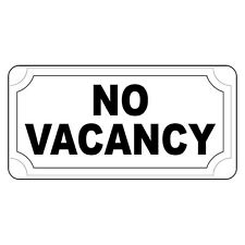 No Vacancy Black Retro Vintage Style Metal Sign - 8 In X 12 In With Holes