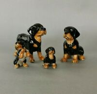 Rottweiler family Figurine Hand Painted Collectible Statue
