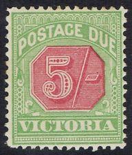 VICTORIA 1895 POSTAGE DUE 5/- WMK V/CROWN SG TYPE W33