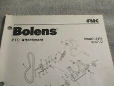 Bolens PTO Attachment Model 18318and up Parts list