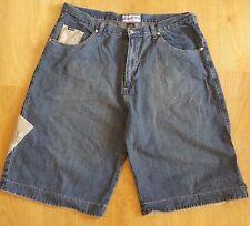 "Enyce Man's Hip Hop Urban Blue Cotton Jeans Extra Large Denim Shorts  W40"" L13"""