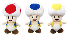Set 3 Little Buddy Super Mario 1417 Toad/1588 Blue Toad/1589 Yellow Toad Plush