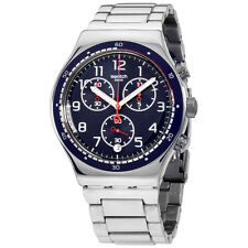 Swatch Irony Swatchour Blue Dial Stainless Steel Men's Watch YVS426G