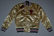 Mitchell & Ness Championship Game Satin Jacket Chicago Bulls GOLD ALL SIZES