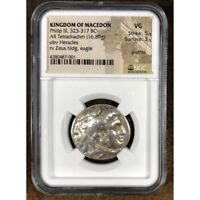 Kingdom of Macedon Phillip III, 323-317 BC NGC VG  ***Rev. Tye's*** #7001252