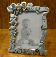 "Pewter Frame #GI 4735 BABY, Retired 6""x4"", 5""x3.5"" pic NEW/Box From Retail Store"