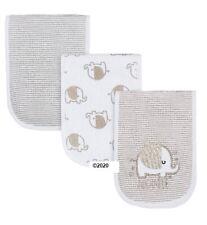 Gerber Baby Boy Or Girl Neutral 3-Pack Elephant Burp Cloths