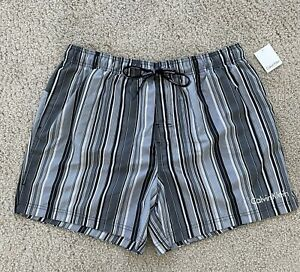 New with Tags CALVIN KLEIN Swim Trunks - MEN - XL - GRAY & BLACK - EXTRA LARGE