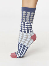 Thought Bamboo Pink Blue Spot Socks Sustainable Anti-Bacterial Size 4-7 Ethical