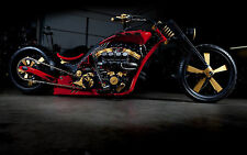 "24"" x 36"" Poster Chopper Hot Rod Super Bike Custom Motorcycle"